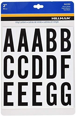 (2-Inch Letters Kit, Black on White, Square-Cut Mylar, Self-Adhesive (842282) - Three (3) Packs (Kits))