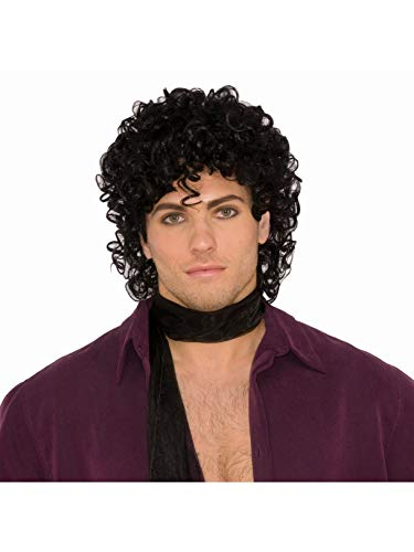 Forum Novelties 80s Rock Star Royalty Wig Black, One Size -