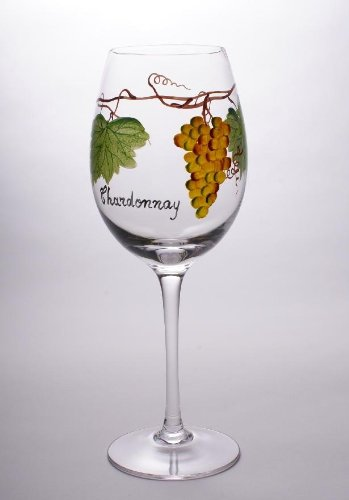 Set Of Four (4) - Romanian Crystal Barware - Dionysus God Of Wine Design - 17 Oz Chardonnay Wine Glasses