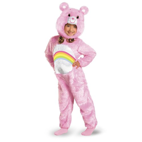 Carebear Costumes (Care Bears Cheer Bear Deluxe Plush Costume, Pink/White, 12-18)