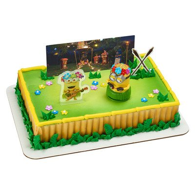 A1 Bakery Supplies Despicable Me 3 - Hula Party Minion Cake Decorating Set