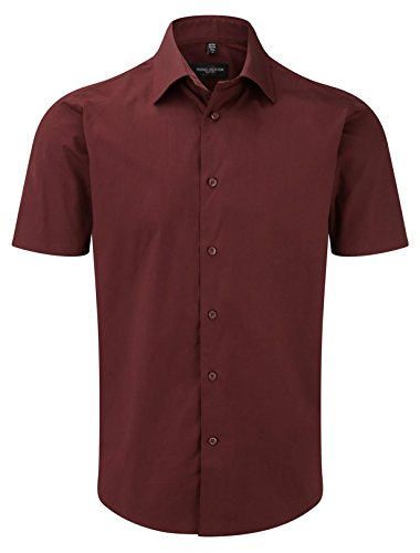 Russell Collection Short Sleeve Easy Care Fitted Shirt XL Port