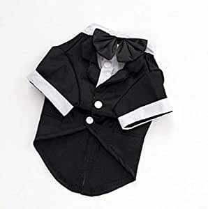 lovely Pet dog clothes black suit Prince suit for dogs