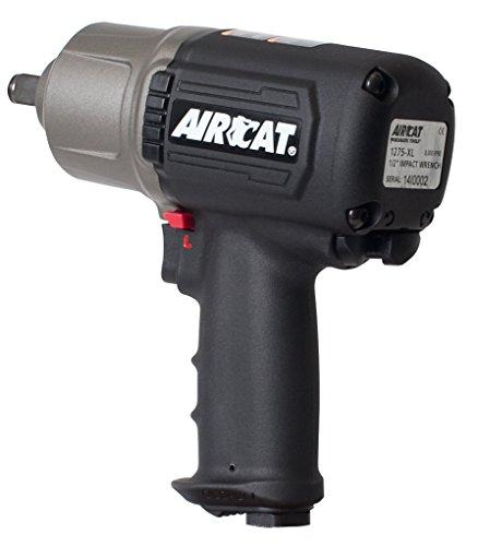 AIRCAT 1275-XL High-Low Torque 1/2'' Impact Wrench, Small, Titanium/Black by AirCat