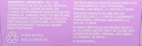 Schick Hydro Silk Moisturizing Razor Blade Refills for Women with Shower Hanger, 4 Count