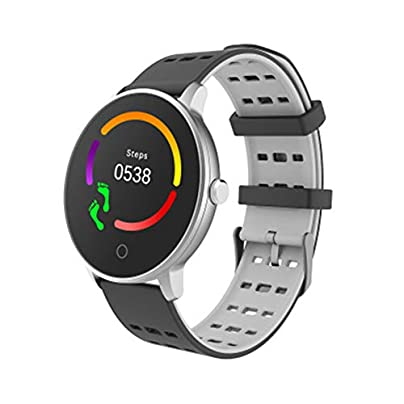 LIUJING Heart Rate Fitness Wristband Smart Watch Waterproof IP67 Activity Tracker Blood Pressure Smart Bracelet with Stopwatch Sport GPS Pedometer Step Calorie Counter Women Men-grey Estimated Price -