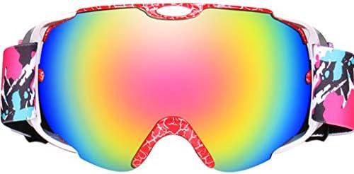 スキーゴーグル、両レンズスキー/スノーボードゴーグル、アンチフォグコート、ベントスモークミラー防眩