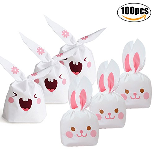 Ireviewhome review trader amazon review group easter candy bagscoxeer 100pcs lovely long bunny rabbit ears gift wrap bags cookie bags negle Images