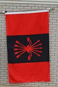 FYOn gran bandera nacional de Falange Española de las asambleas de la Syndicalist bandera 3x 5ft