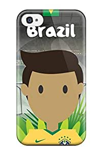 Design Brazil Player Fifa World Cup 2014 Illustration Iphone 5 Hard For Samsung Galaxy S6 Case Cover