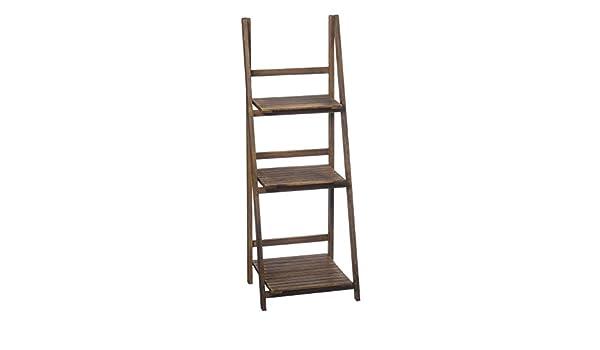 Estantería Escalera estantería separador de madera 117 cm marrón: Amazon.es: Hogar