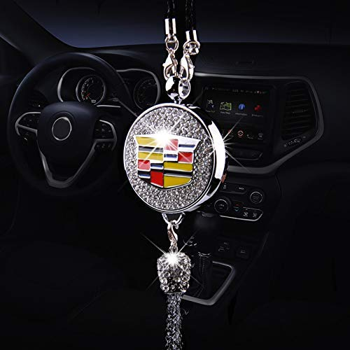 ENJU Auto Parts Exquisite Car Diamond Pendant Ornaments for Cadillac Accessories, Car Perfume Hanging Air Refreshing Charm Decoration (Not Include Perfume)