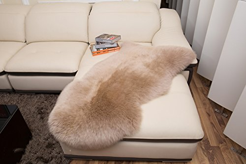 lililili Faux fur sheepskin rug,Kids carpet home décor accent for a kid's room,Childrens bedroom, Nursery, Living room or bath.Bay window blanket,Sofa cover-Bean sand 70x100cm(28x39inch) by lililili