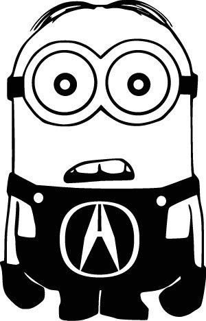 Amazoncom Minion Acura Logo Symbol Vinyl Decal Die Cut Sticker - Acura decals