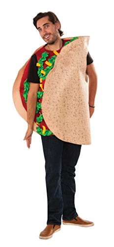 Rubie's Men's Taco Costume, Multi, One Size - Fast And Easy Men's Halloween Costumes