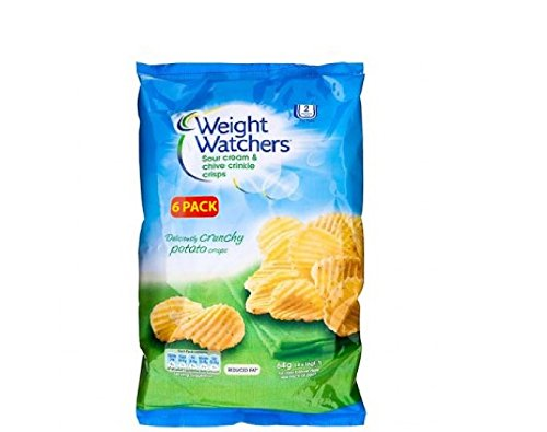 Weight Watchers Sour Cream & Chive Crinkle Crisps 96g (6 x 16g) by Premier Life Store