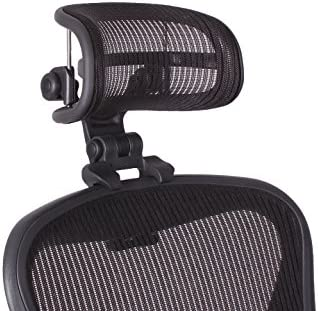 The Original Headrest for The Herman Miller Aeron Chair H3 Carbon Colors and Mesh Match Classic Aeron Chair 2016 and Earlier Models