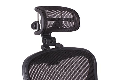 Carbon Match - Engineered Now Headrest for Classic Herman Miller Aeron Chair - H3 Carbon (COLORS MATCH CLASSIC AERON CHAIRS 2016 AND EARLIER MODELS)