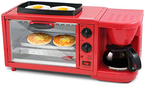 - Elite Delux EBK-300R Deluxe Breakfast Station, X-Large, Red