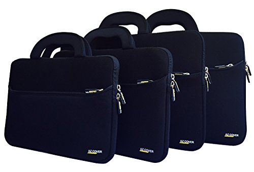 AZ-Cover 15.2-Inch Laptop Sleeve Case Bag (Black) With Handle For Apple PowerBook G4 15.2 inch Laptop - G4 Powerbook Case