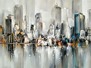 Abstract Hand Painted Tableau on Canvas 140x90 cm , 2724782334105