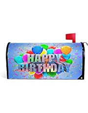 Olicsley Birthday Magnetic Mailbox Cover MailWraps Garden Yard Home Decor for Outside Oversized-18 x20.8