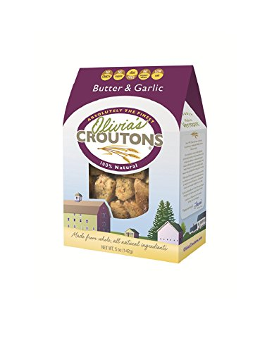 Olivia's Butter & Garlic Croutons, 5 Ounce