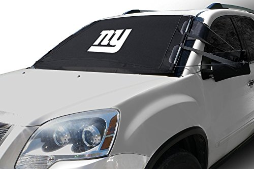 FrostGuard NFL Premium Winter Windshield Cover for Snow, Frost and Ice - Cold Weather Protection for Your Vehicle – New York Giants, Standard Size