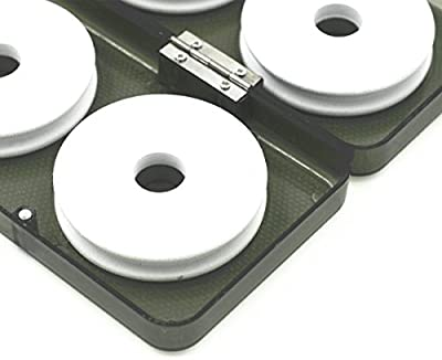 8pcs Foam Fishing Winding Board Fishing Line Bobbin Spools with Plastic Box for Fishing Line Rig Storage