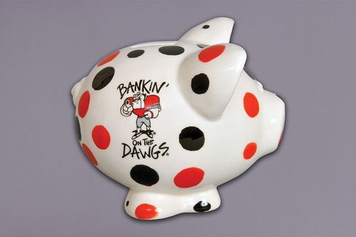 Magnolia Lane Collegiate Ceramic Piggy Bank (Georgia Bulldogs) by Magnolia (Georgia Piggy Bank)