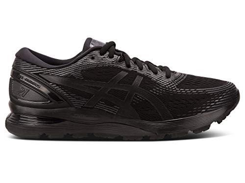 ASICS Men's Gel-Nimbus 21 Running Shoes, 9.5M, Black/Black