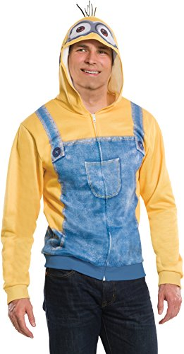 Rubie's Costume Co Men's Minion Unisex Hoodie, Yellow, Large/Standard - Minion Hoodie For Adults