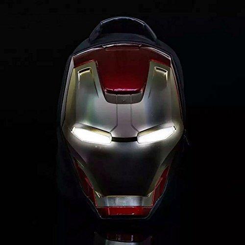 Marvel 3D Hardshell Backpack (Iron Man (LED Light)) by Mtime (Image #3)