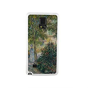 CaseCityLiu - Kamil Monet's garden at Argenteuil Claude Monet Oil Painting Design White Bumper Plastic+TPU Case Cover for Samsung Galaxy Note4