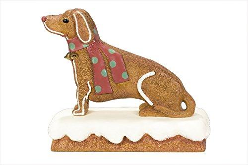 Queens of Christmas WL-GNBR-Dog-2.75 Decorative Ginger Bread Dog, 2.75' -
