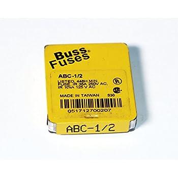 Amazon Com Bussmann Abc 1 2 1 2 Amp Fast Acting Ceramic