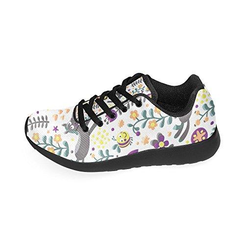 Zenzzle Lona Negro Para de Mujer Zapatillas de Negro Running xwq7aIxro6