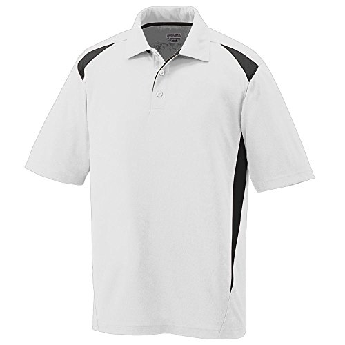 Augusta Sportswear Men's Augusta Premier Polo, White/Black, Medium