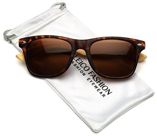 Polarized Classic Rimmed Sunglasses Bamboo product image