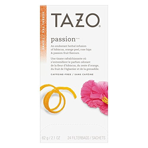 Tazo Passion Filter Bag Tea, 24-Count Packages (Pack of 6) -