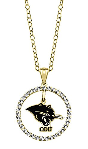 Ohio Dominican Panthers 14kt Yellow Gold and Diamond Circle Charm Pendant
