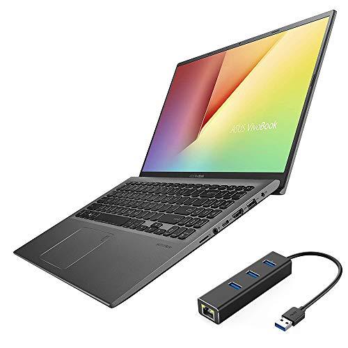 "ASUS VivoBook 15.6"" FHD NanoEdge Laptop, AMD Ryzen 3 3200U up to 3.50 GHz, 16GB RAM, 512GB SSD, FP Reader, USB-C, RJ-45 LAN, Backlit, Keypad, HDMI, Win 10"