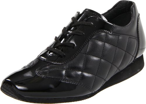 ara Women's Ilana Oxford,Black Quilted Leather,7 M US