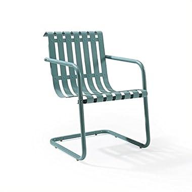 Crosley Gracie Retro Spring Chair, Blue