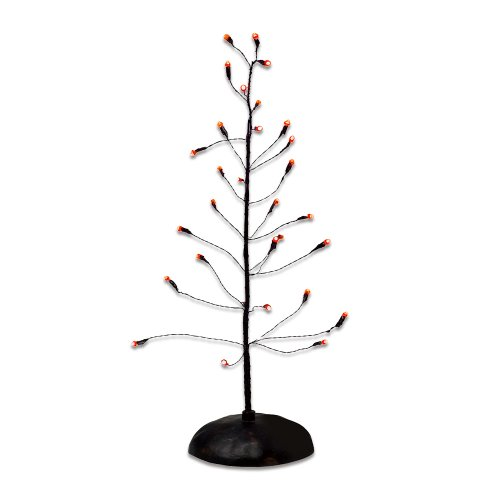 Dept 56 Halloween Village Accessories (Department 56 Accessories for Villages Halloween Orange Twinkle Bright Tree Accessory)