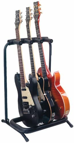 Guitarra Rock Stand Soporte Para 3 guitarras: Amazon.es ...