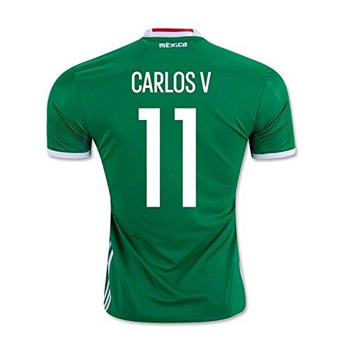 休みグラス寝室を掃除するadidas Carlos V. #11 Mexico Home Jersey Copa America Centenario 2016 - YOUTH/サッカーユニフォーム メキシコ ホーム用 ジュニア向け