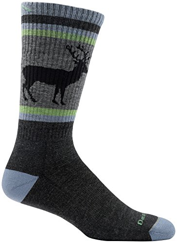 Darn Tough Uncle Buck Boot Cushion Sock   Mens Charcoal Large