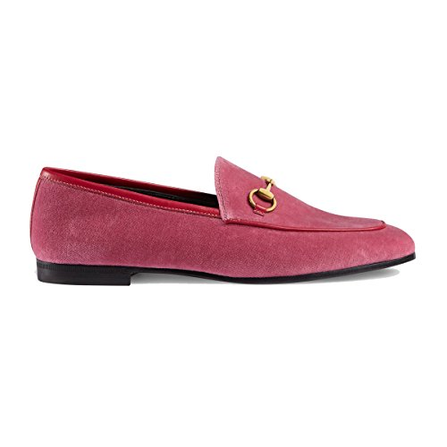 Gucci Women's 431467K4DD05590 Pink Velvet Loafers
