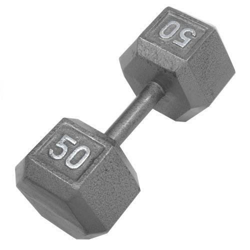 Champion Barbell 50 lbs. Solid Hex Dumbell with Ergo Grip